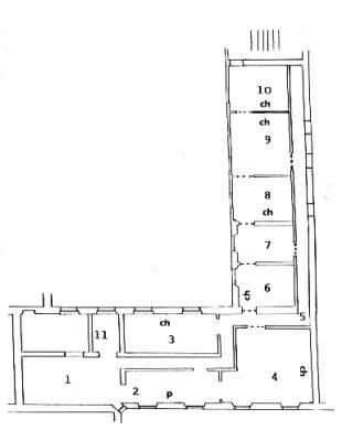 Plan de l'appartement au temps de Victor Hugo
